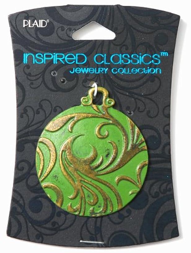 Plaid Inspired Classic Jewelry, 14673 Washed Round Oxidized Brass