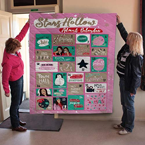 Gilmore Girls Calendars Quilt, Patrick's Day Gift Quilt Bed St Patricks Day Mothers Fathers Day Birthday Girls Boys Gifts from Mom Mommy Mother Dad Daddy Father Grandma Grandpa