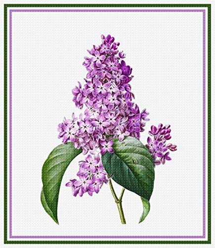 오렌코 원본 라일락 꽃 피에르 요셉 REDOUTE 카운트 크로스 스티치 패턴