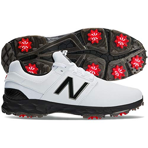 New Balance Men's LinksPro Golf Shoe, White/Black, 8