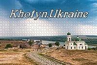 大人のためのジグソーパズルウクライナホトィン要塞パズル1000ピース木製旅行のお土産