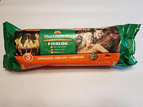 Buy Pine Mountain 100% Natural Classic Firelog, 3-Hour Burn Time, 6 Logs