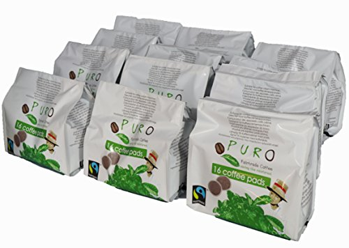 Puro Kaffeepads 192 Pads coffee pads für Senseo FAIRTRADE von Miko Kaffee Grosspackung (12 x 16 Pads)