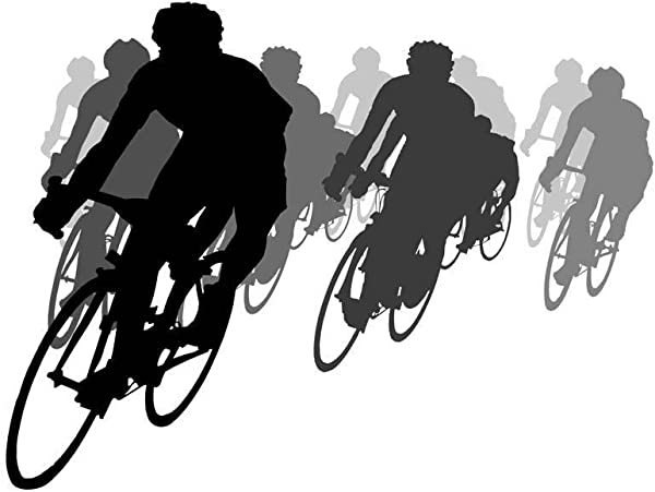 Wallmonkeys Cycling Tournament Silhouette Wall Decal Peel And Stick Graphic 48 In W X 34 In H WM22397