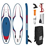 Airgymfactory Inflatable Stand Up Paddle Boards Double Layer Premium SUP Accessories & Carbon Fiber Adjustable Paddle & Inflation and Deflation Double Action Bravo Pump Leash for Youth…