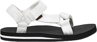 CUSHIONAIRE Women's Summer Yoga Mat Sandal with +Comfort White/Black, 7