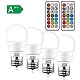 Ampoules LED Couleur E27 5W (équivalent 50W) Télécommande Blanc Froid (6000 Kelvin) Changement de couleur Ampoule - RGB 12...