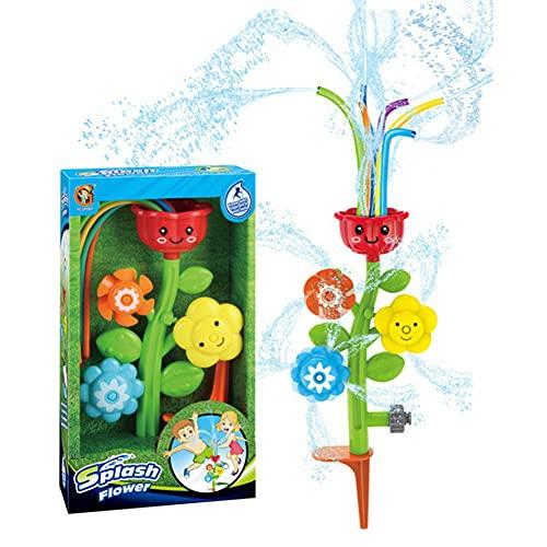 Kromini Sprinkler Kinder, Wasserspielzeug für Kinder, Wassersprinkler Spielzeug Rasensprenger für Garten Sommer Outdoor Aktivitäten, Sprinkler für Kinder ab 3 Jahren (Blumen)
