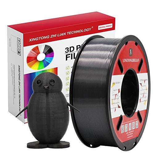 PLA Negro Seda Filamento de Impresión 3D 1.75mm Materiales Precisión +/- 0.02 mm 1kg/un carrete