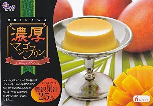 濃厚マンゴープリン アップルマンゴー使用 贅沢果汁25% 6個入り×2箱 MGあさひ マンゴー果汁を贅沢に使用した大人のマンゴープリン 濃厚な甘さと香り 沖縄土産にどうぞ