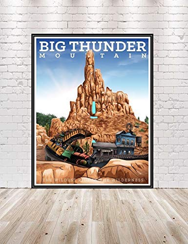 Disney Thunder Max 72% Luxury goods OFF Mountain Poster Attraction Vintage Posters