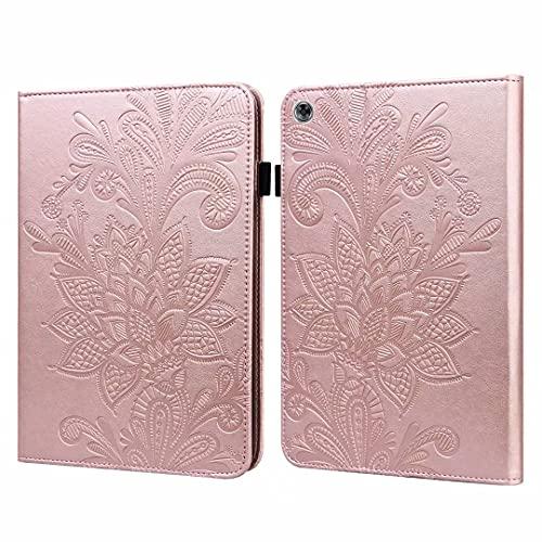 Funda para Samsung Galaxy Tab A6 10.1' (2016) T580/T585 - [Protección de esquina] Funda tipo libro con función atril y función atril para tablet color rosa