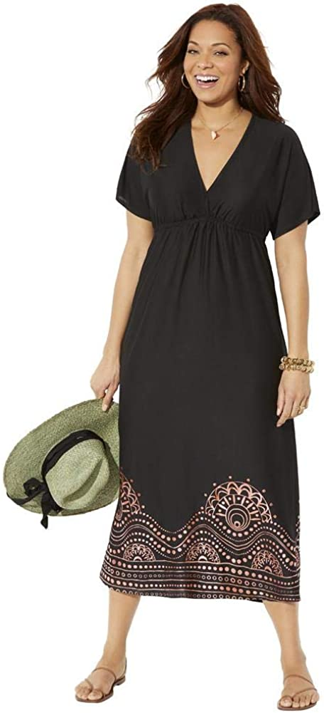 Swimsuits For All San Diego Mall Women's Plus Size Up Kate Maxi V-Neck Cover Sales of SALE items from new works Dr