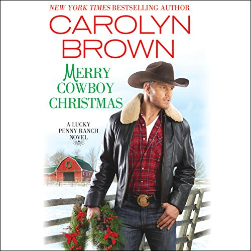 Merry Cowboy Christmas audiobook cover art