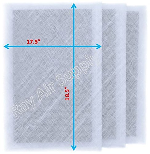 RAYAIR SUPPLY 20x20 Air Ranger Replacement Filter Pads 20X20 (3 Pack) White