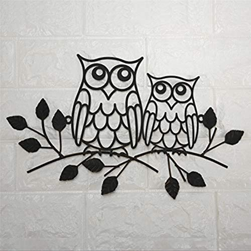 BYRON HOYLE Placa decorativa de metal con diseño de búho en rama,...