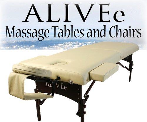 Signature II Portable Massage Table Beige Dark W/Adjustable Headrest W/Armsling