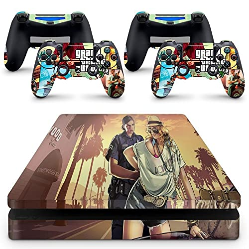 Skin Adesivo Protetor para PS4 Slim GTA V Grand Theft Auto 5 b4