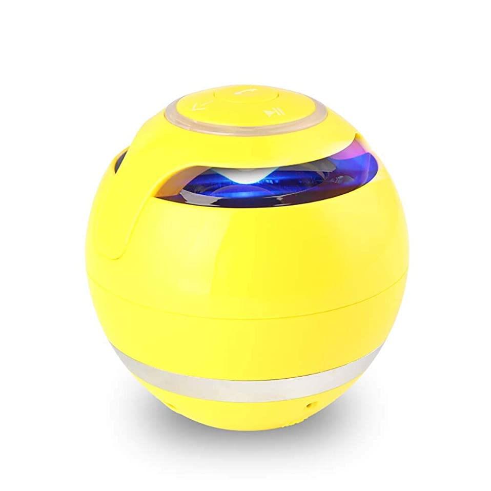 人類アレルギー性クレタ無線 サブウーファー付Bluetoothスピーカー ミニラウンド ハイファイスピーカー ポータブルスピーカー ハンズフリー屋内屋外用 互換性のあるIPhoneのIPadのAndroid (黒/赤/黄)