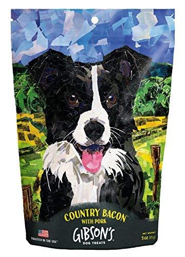 Gibsons Country Bacon with Pork - Human Grade USA Soft Jerky Dog Treats, 3 oz