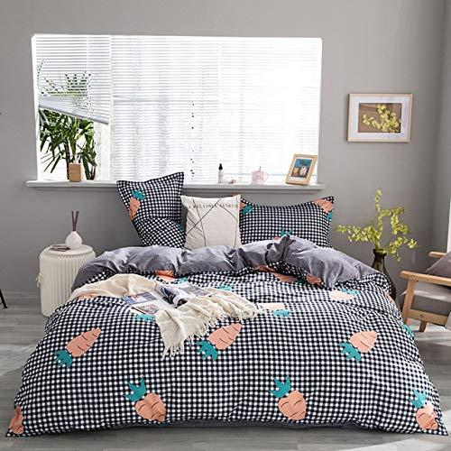 Mdsfe Deer Stripe 4pcs Girl Boy Kid Bed Cover Set Duvet Cover Adult Child Bed Sheets And Pillowcases Comforter Bedding Set 2TJ-61006-2TJ-61059-001, King 4pcs 240x220cm