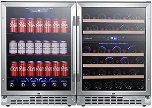 EdgeStar CWBV14246 48 Inch Wide 46 Bottle 142 Can Built-In Side-by-Side Wine and Beverage Center