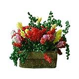 good01Mini Kabine Blumentöpfe Getopfte Landschaft Modell, Puppenhaus Miniatur Modell Flower Bonsai Puppe Zubehör Colorful Play Spielzeug Kinder–Mehrfarbig -