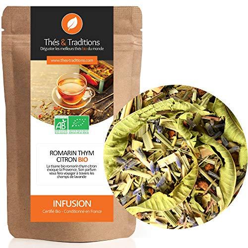 Thés & Traditions - Té de hierbas de romero, tomillo y limón bio | 100g