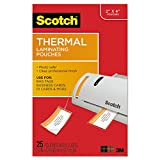 3M Scotch TP585325 Luggage Tag Size Thermal Laminating Pouches, 5 mil, 4 1/5 x 2 1/2, 25/Pack