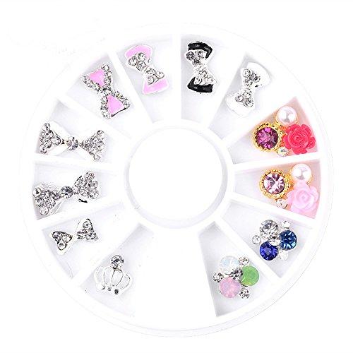 3D Aufkleber Sticker Nail Art Tip DIY Dekoration Stamping Maniküre Nägel Steine für Nagel-Design Generic Adorable Fashion Decoration Nagel Kunst Strass
