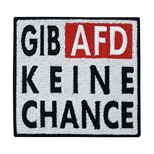 Gib AFD keine Chance Patch zum Aufbügeln | FCK NZS Patches, Bügelflicken, Flicken, Aufnäher, Applikation, Aufbügelbilder Finally Home