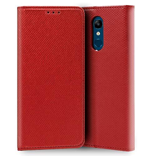 iGlobalmarket LG K11, Funda con Tapa, Apertura Lateral Tipo Libro, Cuero PU, Color Rojo