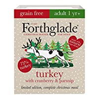 CHRISTMAS WET DOG FOOD: 7 x 395g trays of grain free dog food suitable for adult dogs aged 1-7 years, made with festive turkey, cranberry & pasnip NATURAL INGREDIENTS: Bursting with goodness and made using natural ingredients, with added vitamins, mi...