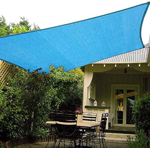 XRDSHY Markise Rechteckiger Sonnenschutzblock 95% UV Wasserdichter Gartenbalkon Pool Leichter Baldachin Mit Freiem Seil,Blue-3.6x3.6x3.6m