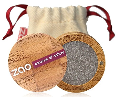 ZAO Pearly Eyeshadow 107 graubraun Lidschatten schimmernd in nachfüllbarer Bambus-Dose