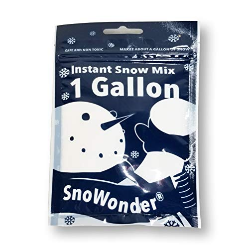 SnoWonder Instant Snow Fake Artificial Snow - Ideal for Making Cloud Slime, Mix Makes 4 Litres of Fake Snow