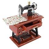 AUNMAS Máquina de Coser en Forma de Caja de música de Estilo Vintage de Almacenamiento de Joyas decoración de Mesa para la colección de Aniversario Regalo de cumpleaños