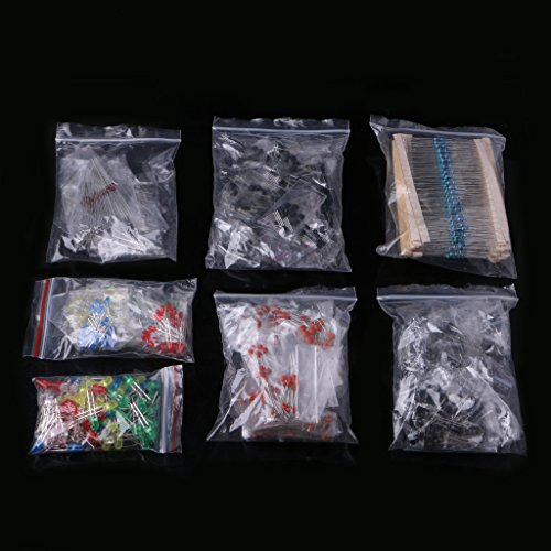 FXCO - Kit componenti elettronici, diodi LED, 30 valvole, condensatori elettrolitici, condensatori in Ceramica, diodi Comuni Transistor