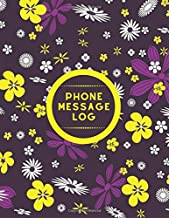 """Phone Message Book: Voice Mail Telephone Record Memo Notebook Tracker Journal Monitor Log Book for Monitoring and Tracking all Telephone Messages and ... use. 8.5""""x11"""" with 120 pages (Phone logbook)"""