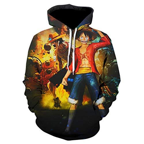 zhuxsww Sudadera con Capucha De Anime 3D para Hombres Y Mujeres, Disfraz De Cosplay, Ropa Universitaria, Pulver Street Wear-We-524_XL