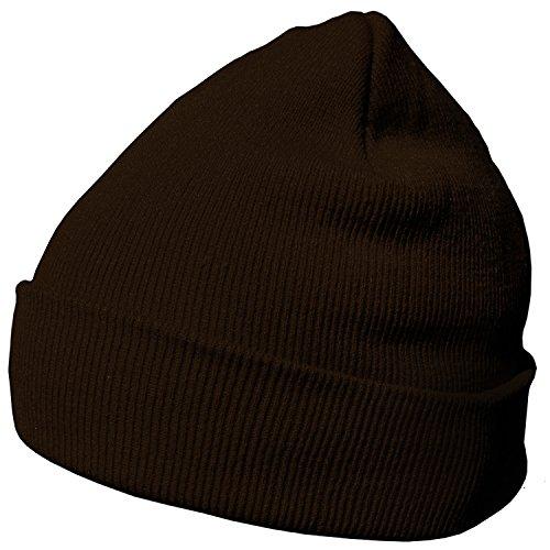 DonDon Wintermütze Mütze warm klassisches Design modern und weich braun