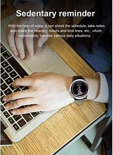TYUI Reloj Inteligente 1.22 Pulgadas Pantalla Fitness Tracker Deportes Podómetro Pulsera Mensaje Push Recordatorio Inteligente IP67 Impermeable 200mAh-Negro