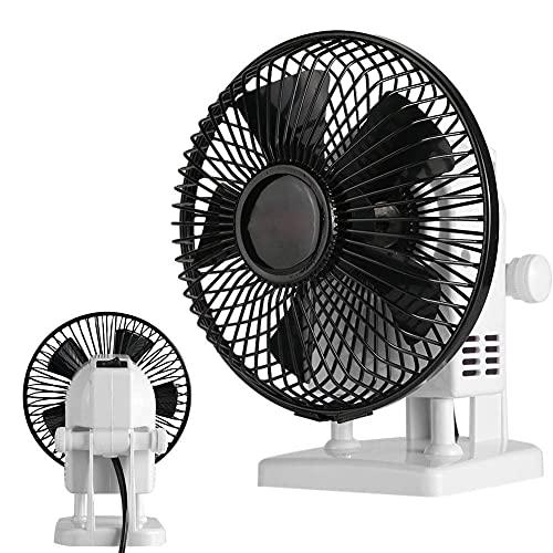 ●Regalo per Natale●Hebrew Ventilatore Elettrico, Ventilatore da Tavolo, Negozio per Salone di Piccole Dimensioni ad Alta Resistenza per la casa(European Standard 220V)