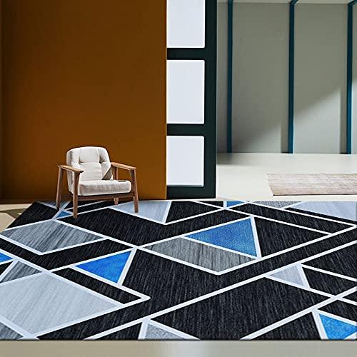 Alfombra De Impresión Geométrica Moderna Alfombra Gruesa Impermeable Y Antideslizante Adecuada para Dormitorio Sala De Estar Alfombra De Entrada