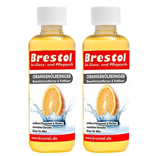 Brestol sinaasappeloliereiniger 2 x 300 ml - universele reiniger vetolie kauwgom boomhars verwijderaar boomharsverwijderaar geurneutraliseerde