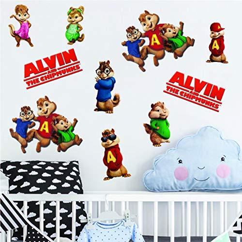 Juego completo de pegatinas de vinilo para pared de Alvin y las ardillas, de la marca Eliteprint