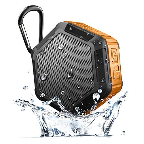 ZUIZUI Altavoz Bluetooth para Exteriores, Subwoofer Inalámbrico Portátil A Prueba De Agua, con Gancho De Seguridad para Acampar, Escucha De Música Durante Mucho Tiempo,Verde