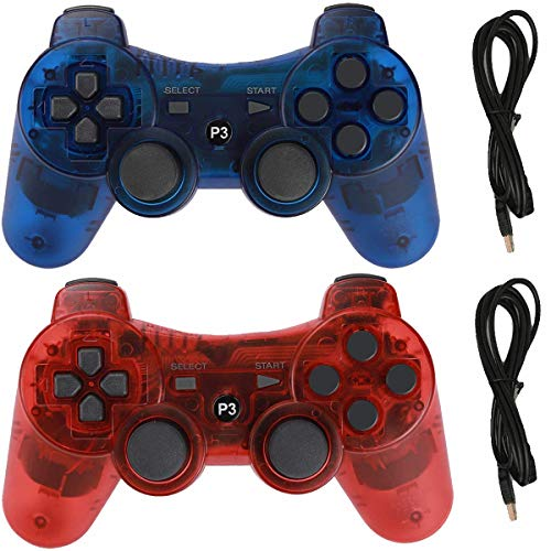 Lopto Wireless Controller für PS3 Playstation 3 Dualshock Six-Axis, Bluetooth Remote Gamepad Joystick inkl. USB-Kabel