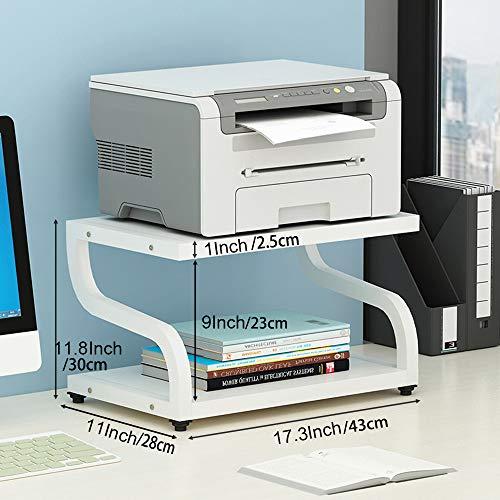 PUNCIA Office Escritorio Laser Multifuncional Impresora fotocopiadora escáner Soporte Estante Estante Estante Estante Estante con Almohadillas Antideslizante para Organizador de Escritorio Bandeja