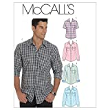 McCall's Patterns M6044 Size XN Extra Large-XXL-XXXL Men's Shirts, Pack of 1, White